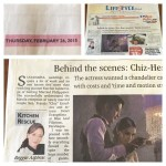 Ms. Kutchie Zaldarriaga feature Front page of Lifestyle section of the Phil Daily Inquirer